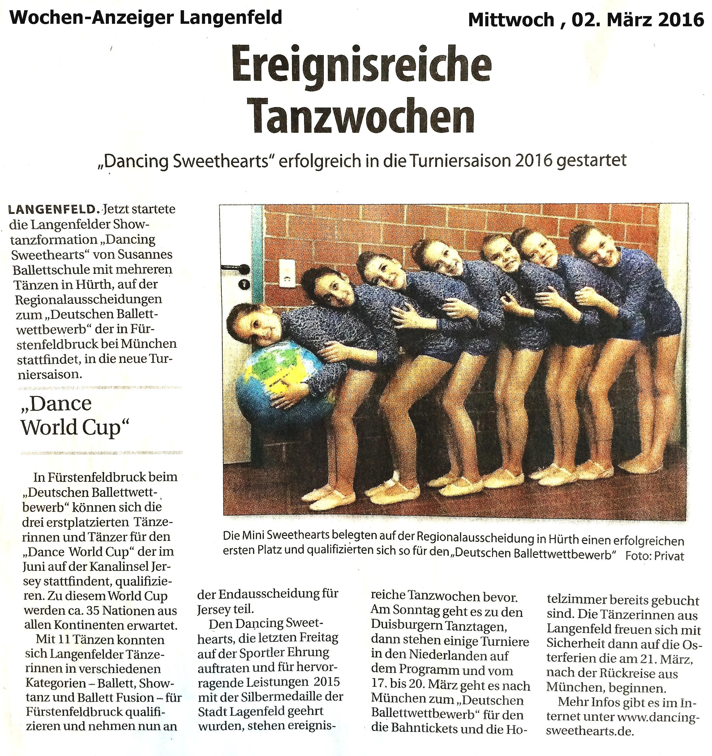 Wochenanzeiger Langenfeld 02.03.2016